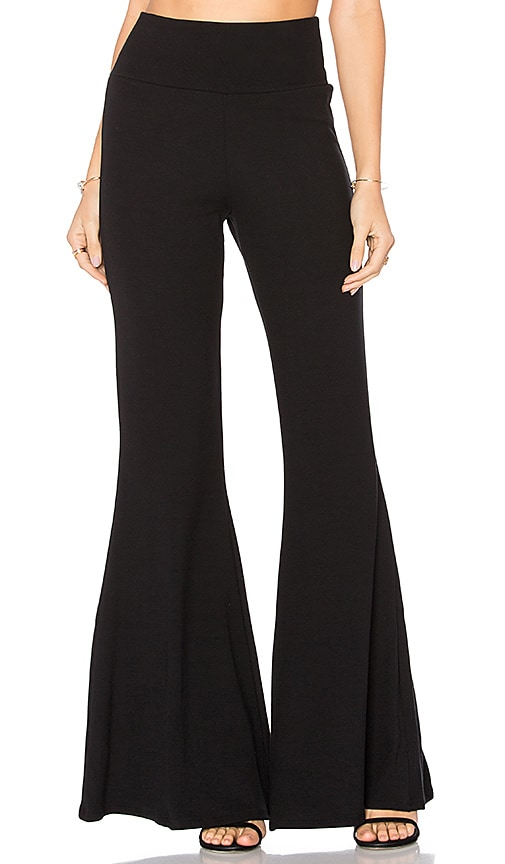 Rachel Pally Luxe Rib Piero Pant in Black