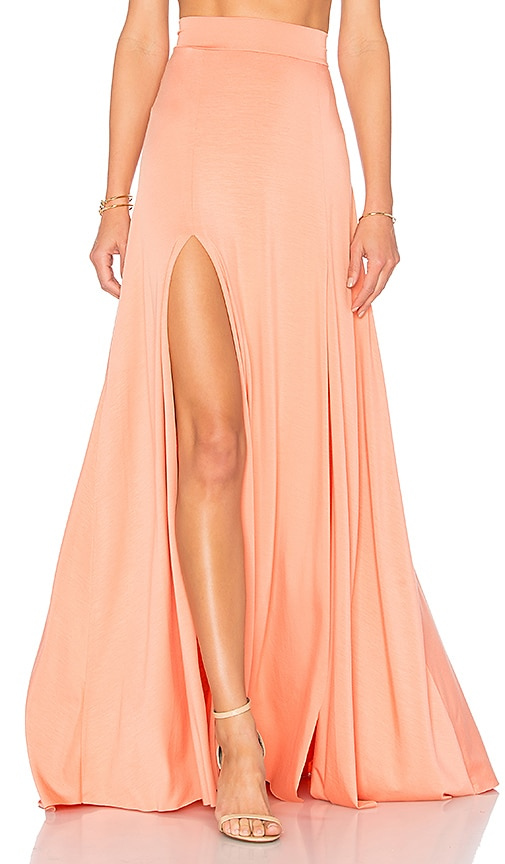 Rachel Pally Josephine Maxi Skirt in Peach