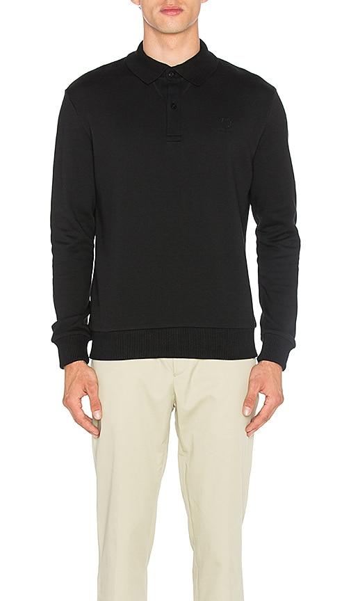Fred Perry x Raf Simons Flat Knit Collar Sweatshirt in Black