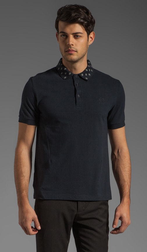 Fred Perry Shirt w/ Printed Detachable Collar Polo