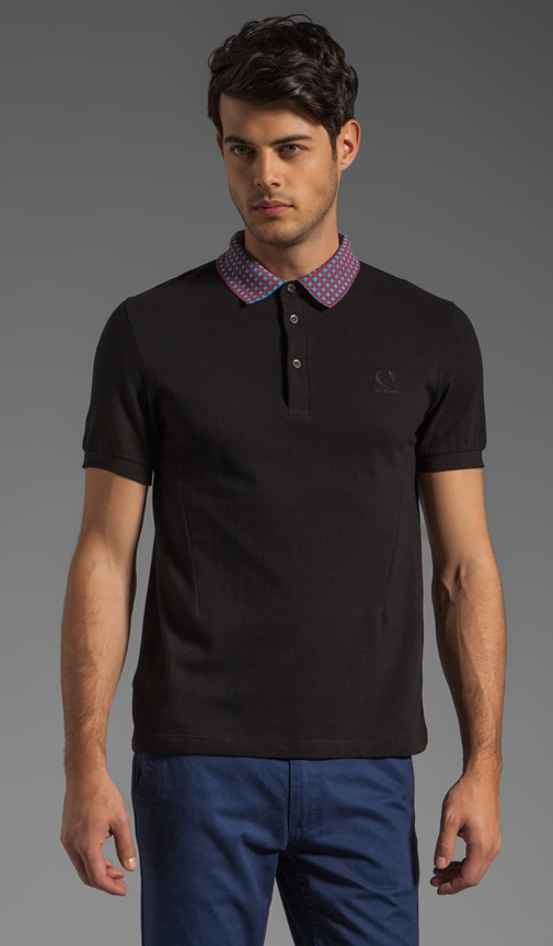 Fred Perry Shirt w/ Checked Detachable Collar Polo