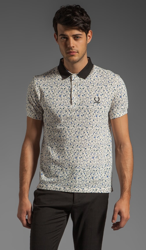 Fred Perry Floral Print Shirt Polo