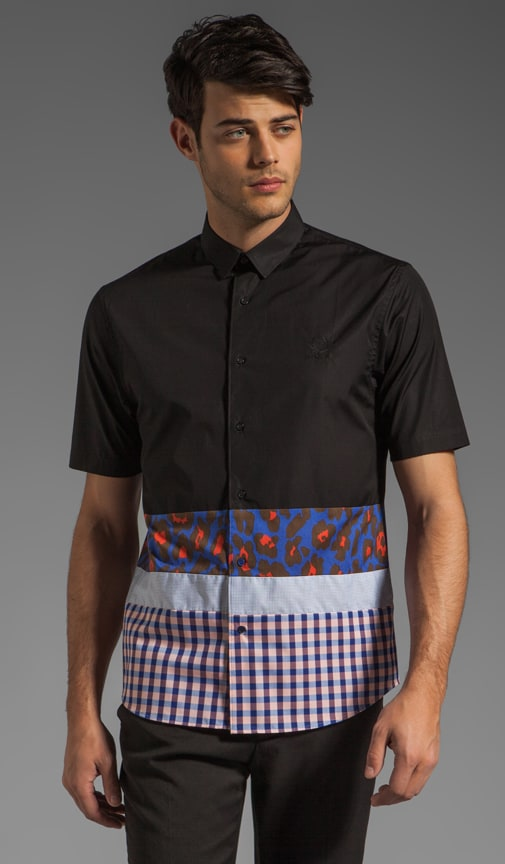 Short Sleeve Shirt w/ Contrast Panels