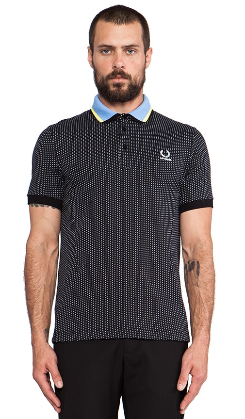 Jacquard Square Fred Perry Shirt