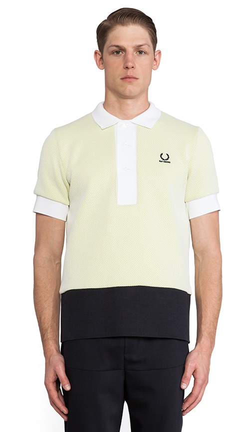 Mesh Colour Block Fred Perry Shirt