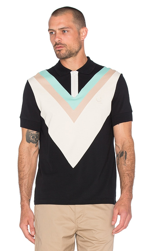 Wide Chevron Pique Polo