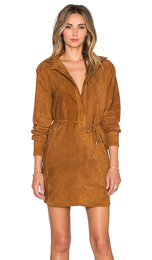 rag & bone/JEAN Leeds Dress in Brown Suede