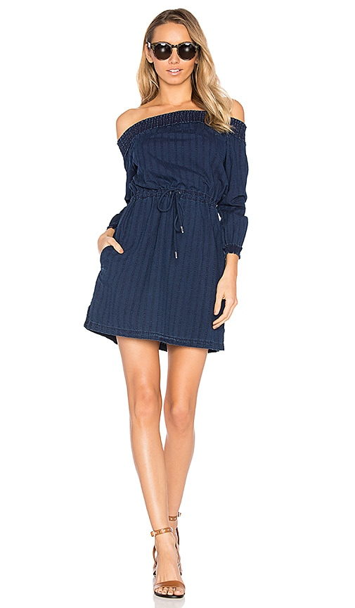 rag & bone/JEAN Drew Off the Shoulder Dress in Blue