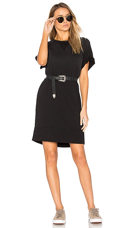 rag & bone/JEAN Washed Terry Dress in Black