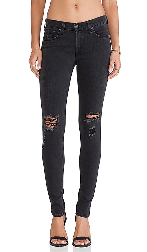 rag & bone/JEAN The Skinny in Soft Rock w/ Holes