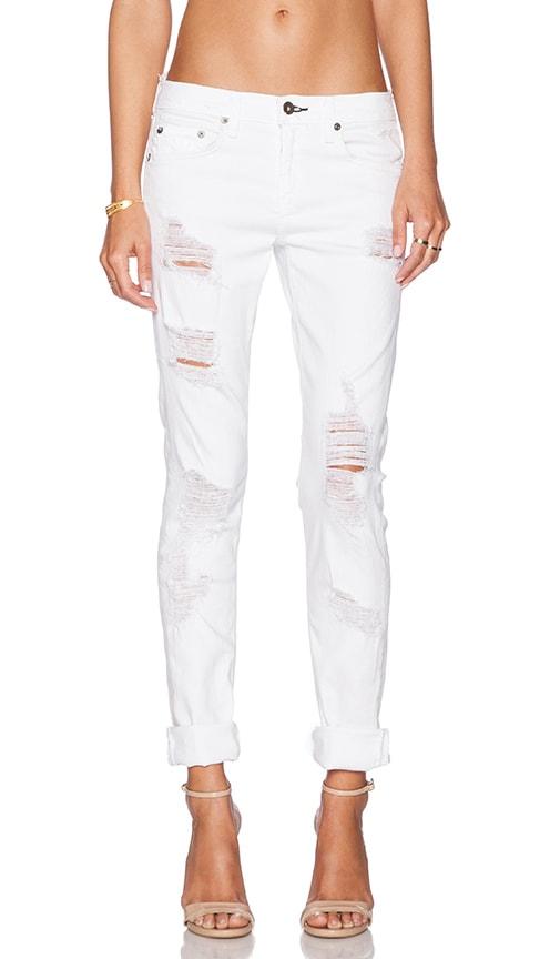 rag & bone/JEAN The Dre Boyfriend in Rebel Bright White