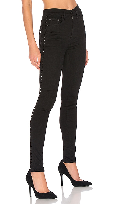 rag & bone/JEAN Dive Jean in Studded Black