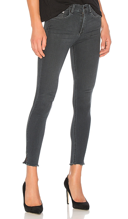 rag & bone/JEAN 10 Inch Capri in Black Flamingo