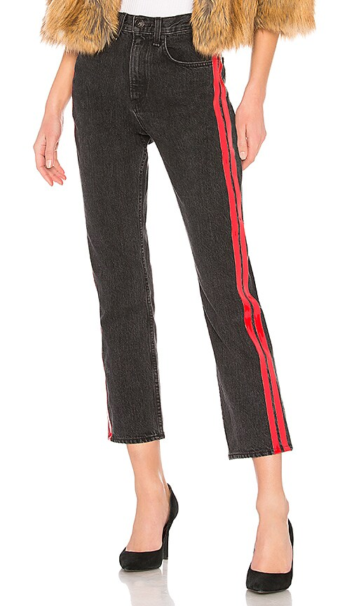 rag & bone/JEAN Straight Jean in Washed Black