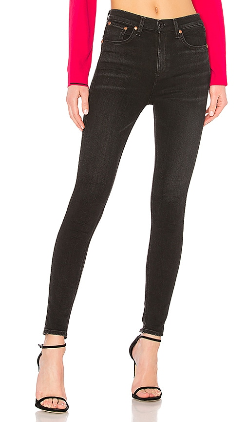 rag & bone/JEAN Vintage Skinny Jean in Black Brook