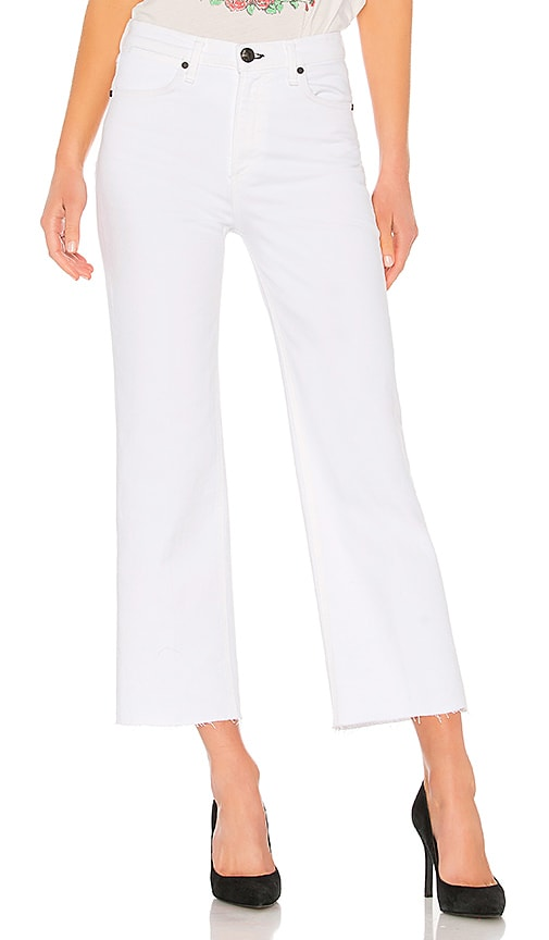 rag & bone/JEAN Justine Wide Leg Ankle Jean in White