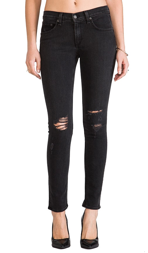 b3448d06a339 rag & bone/JEAN Slim Fit Skinny in Rock with Holes | REVOLVE