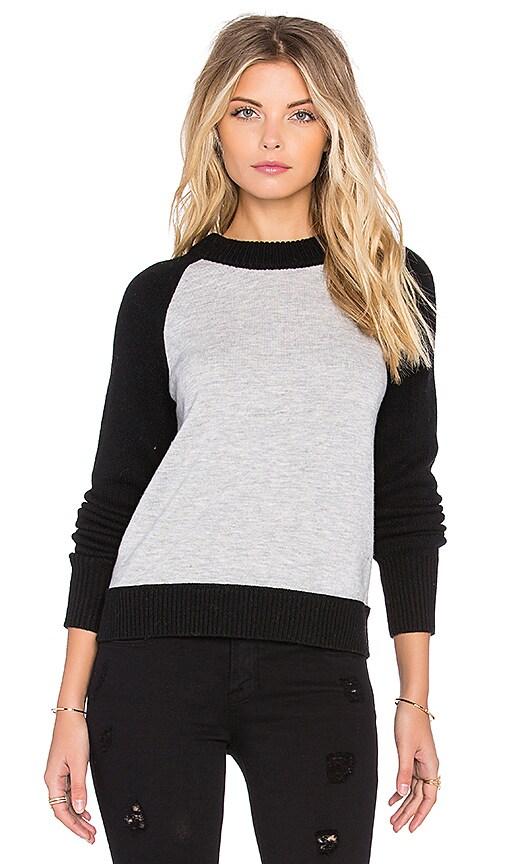 rag & bone/JEAN Amelia Zip Back Sweater in Light Grey