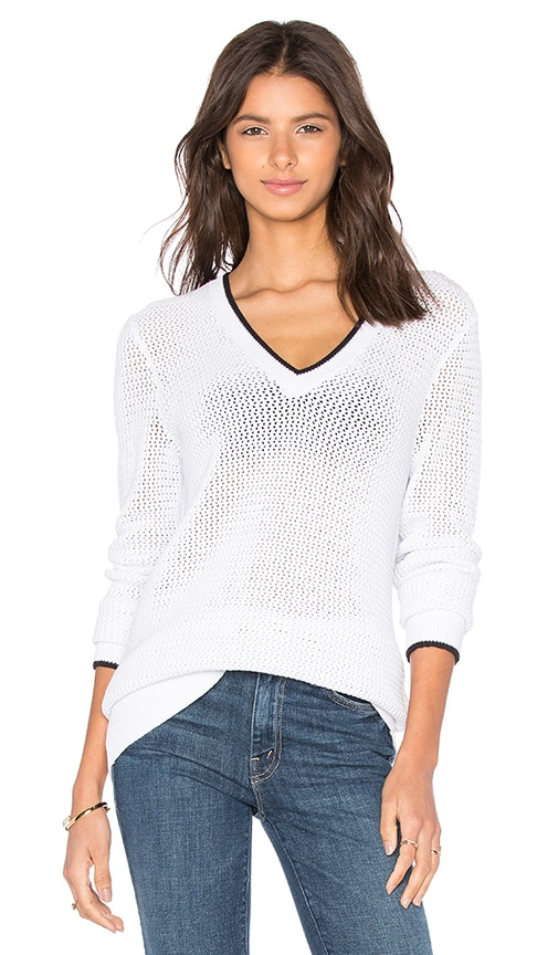 rag & bone/JEAN Maeve V Neck Sweater in White