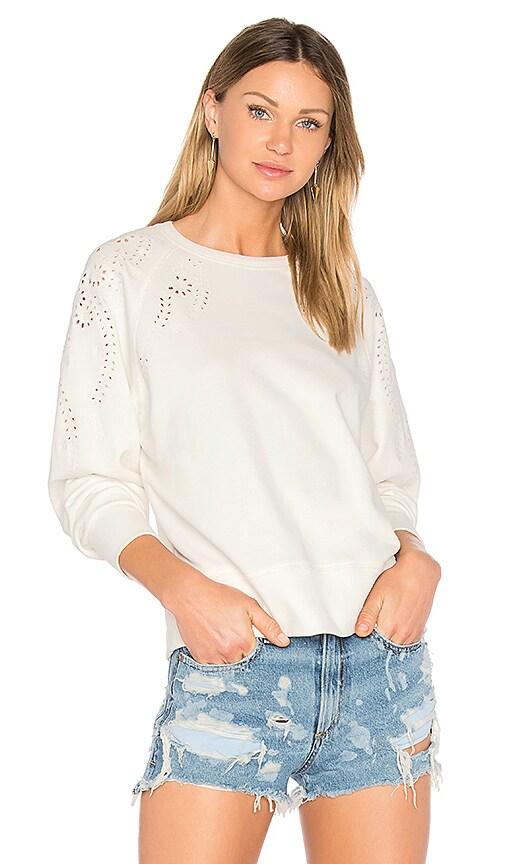 rag & bone/JEAN Eyelet Pullover in White