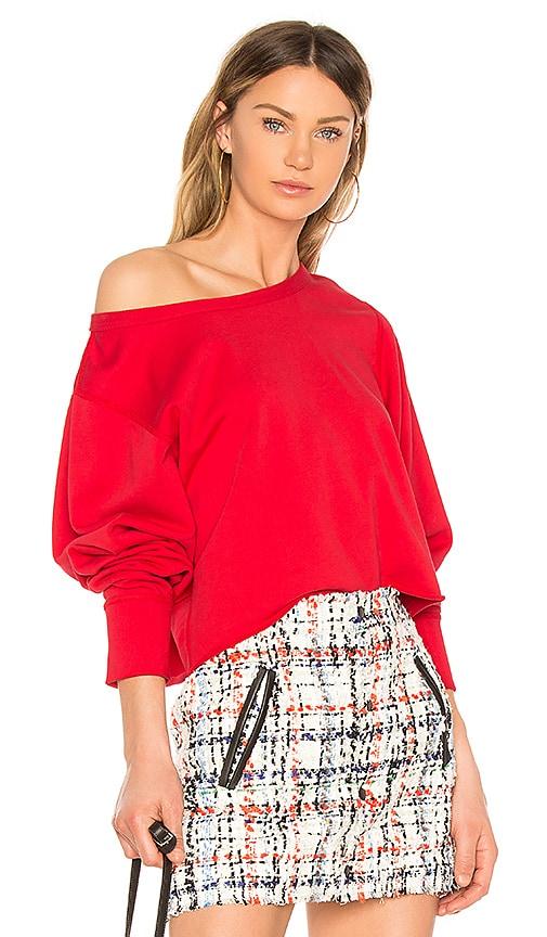 rag & bone/JEAN Cropped Pullover in Red