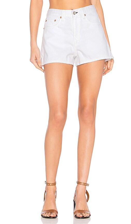 rag & bone/JEAN Justine Short in White