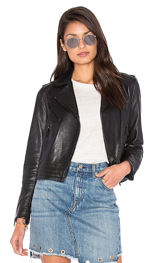 rag & bone/JEAN Mercer Leather Jacket in Black