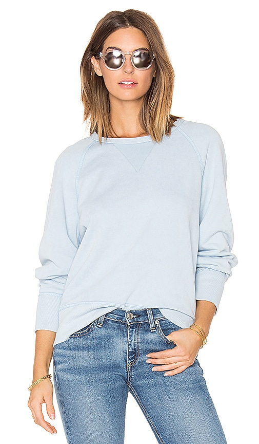 rag & bone/JEAN Washed Classic Pullover in Baby Blue