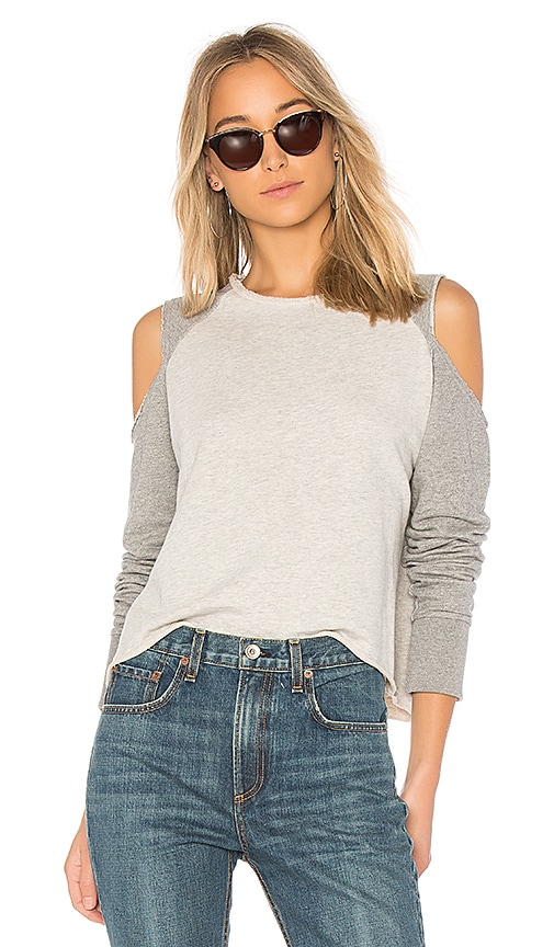 rag & bone/JEAN Slash Sweatshirt in Gray