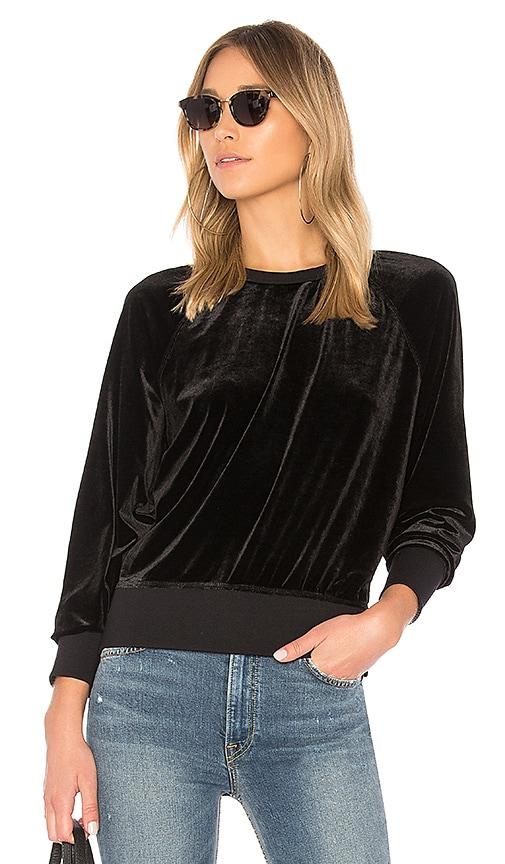 rag & bone/JEAN Velvet Classic Pullover in Black