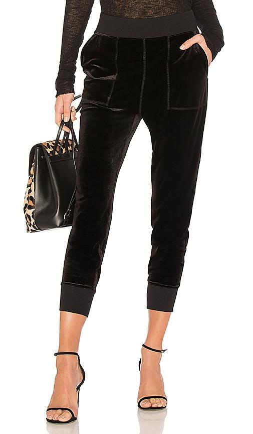 rag & bone/JEAN Velvet Scout Pant in Black