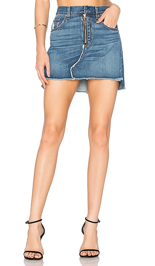 rag & bone/JEAN O Ring Skirt in Blue