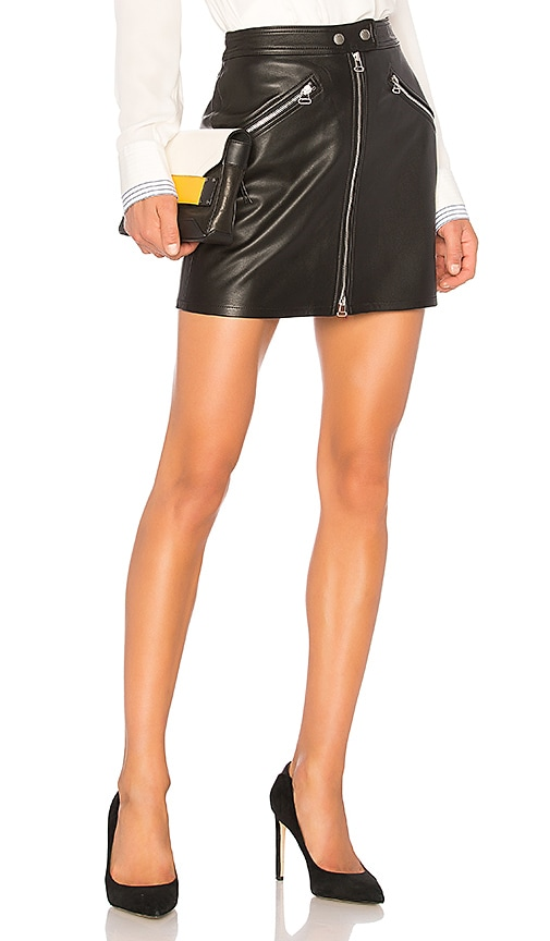 rag & bone/JEAN Racer Skirt in Black