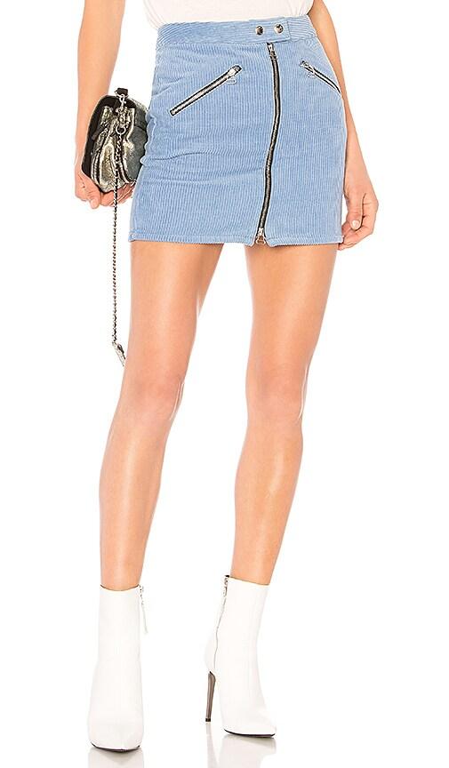 rag & bone/JEAN Racer Skirt in Blue