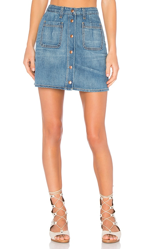 rag & bone/JEAN Santa Cruz Mini Skirt in Capitol