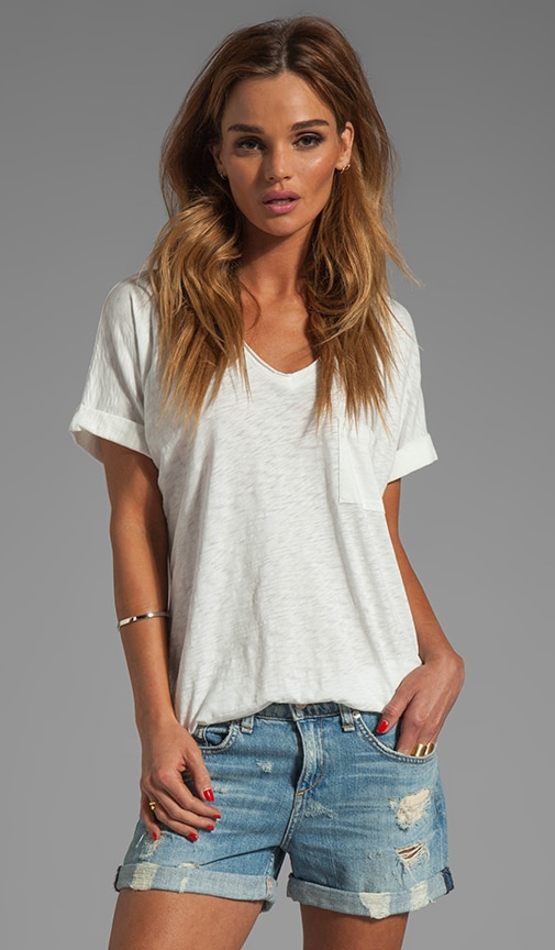 Oversized Pocket V Tee