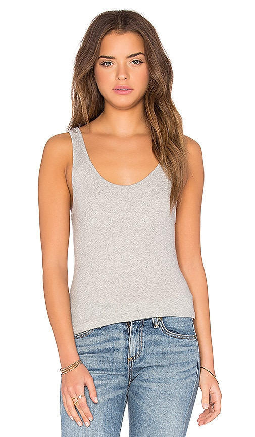 rag & bone/JEAN Scoop Neck Tank in Gray