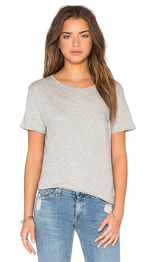 rag & bone/JEAN X-Boyfriend Tee in Heather Grey