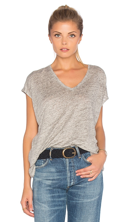 rag & bone/JEAN Malibu V Neck Tee in Heather Grey