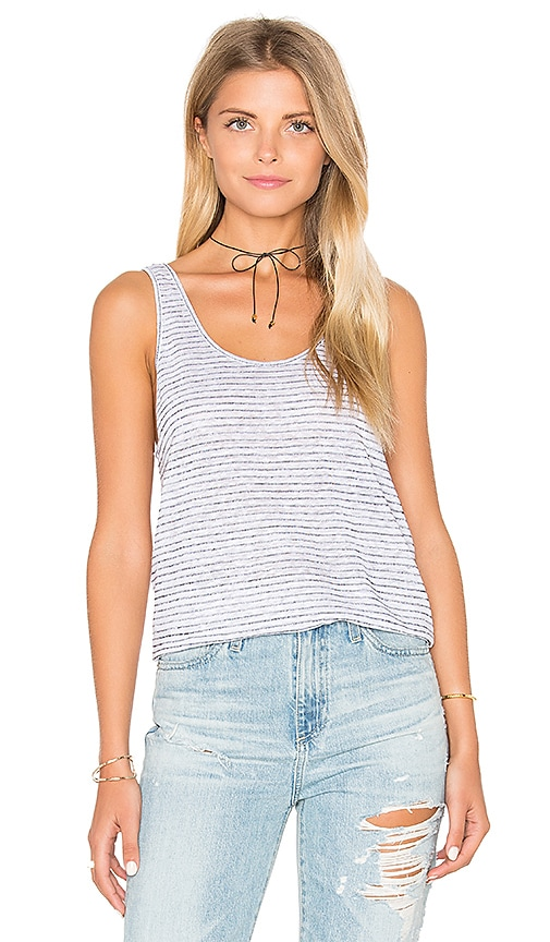 rag & bone/JEAN Summer Stripe Canyon Tank in White