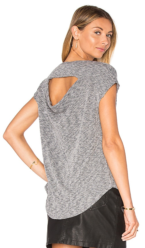 rag & bone/JEAN Highland Drape Back Tee in Gray