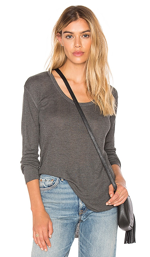 rag & bone/JEAN 90's Long Sleeve Tee in Gray