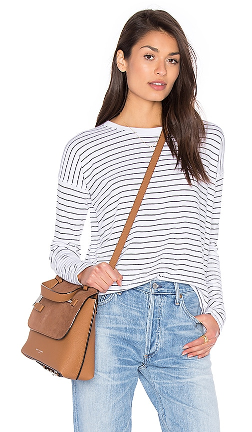 rag & bone/JEAN Vintage Long Sleeve Top in White