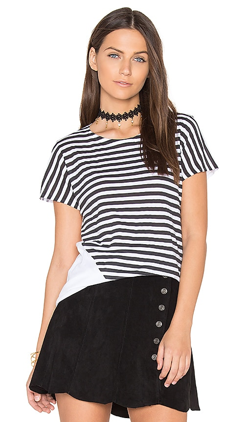 rag & bone/JEAN Base Graphic Tee in Black & White
