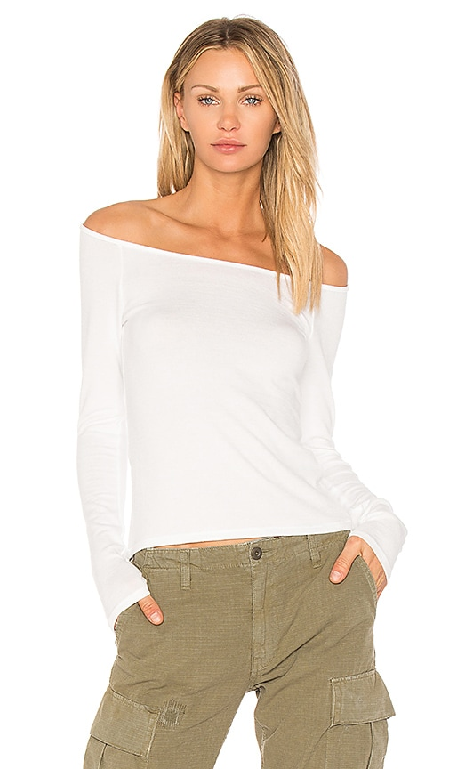 rag & bone/JEAN Oasis Off the Shoulder Top in White