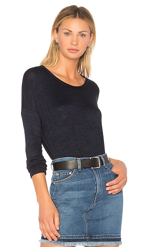 rag & bone/JEAN The Hudson Long Sleeve Tee in Blue