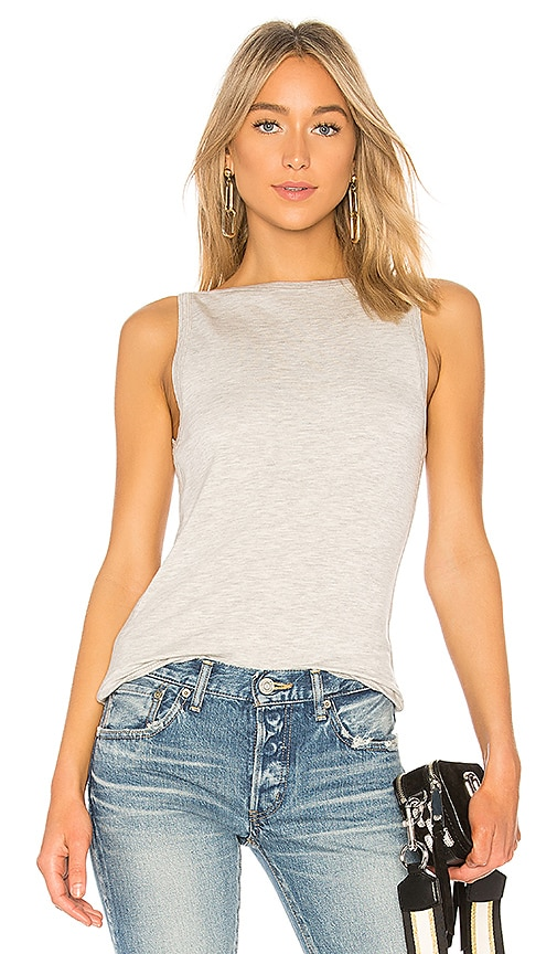 rag & bone/JEAN Flora Tank in Gray