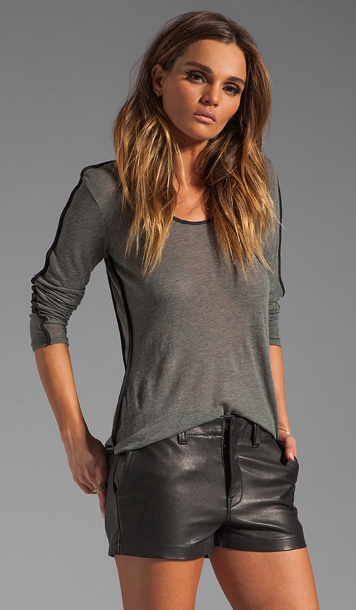 The Piped Long Sleeve Tee