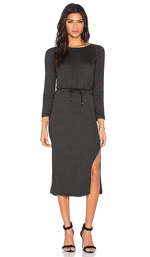 Ragdoll Knit Jersey Dress in Dark Grey