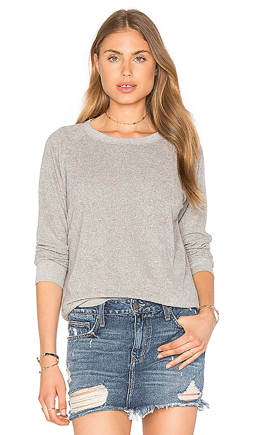 Ragdoll Vintage Terry Sweatshirt in Light Gray